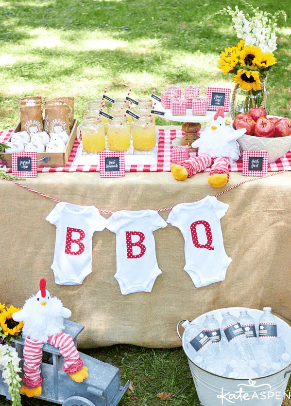 baby shower barbecue baby q
