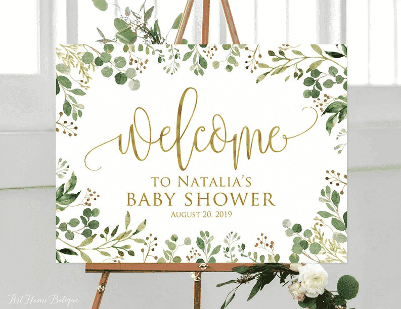 baby shower welcome poster