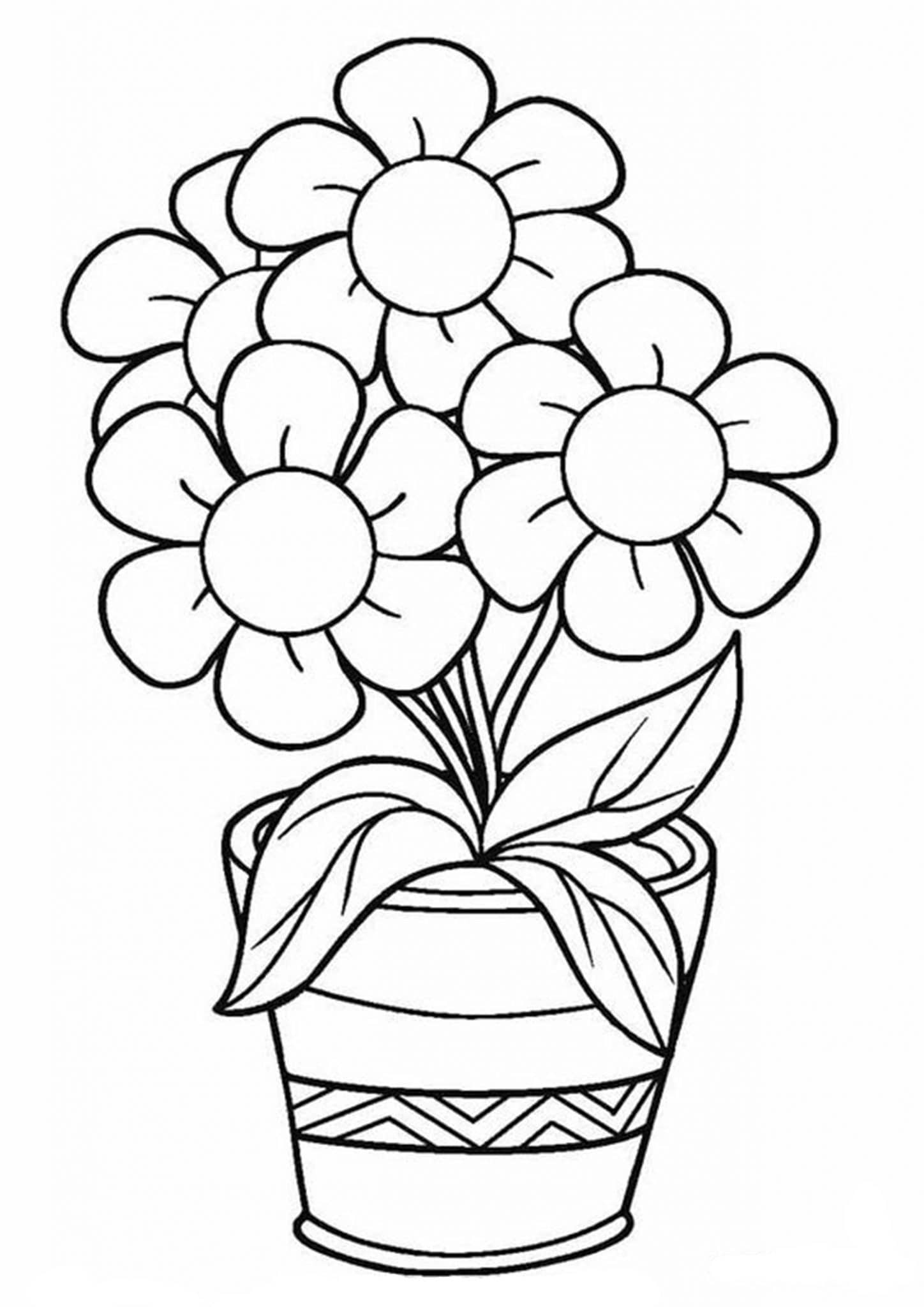 - Free & Easy To Print Flower Coloring Pages - Tulamama
