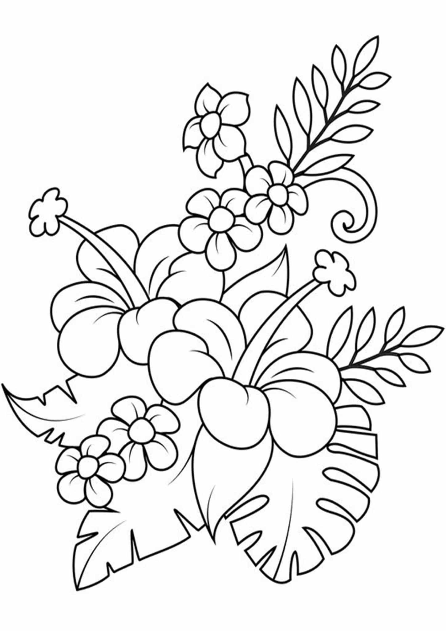 Free & Easy To Print Flower Coloring Pages - Tulamama