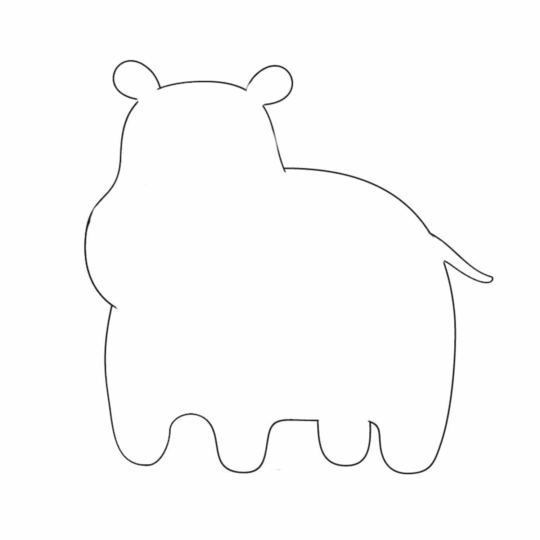 animal cutouts hippo