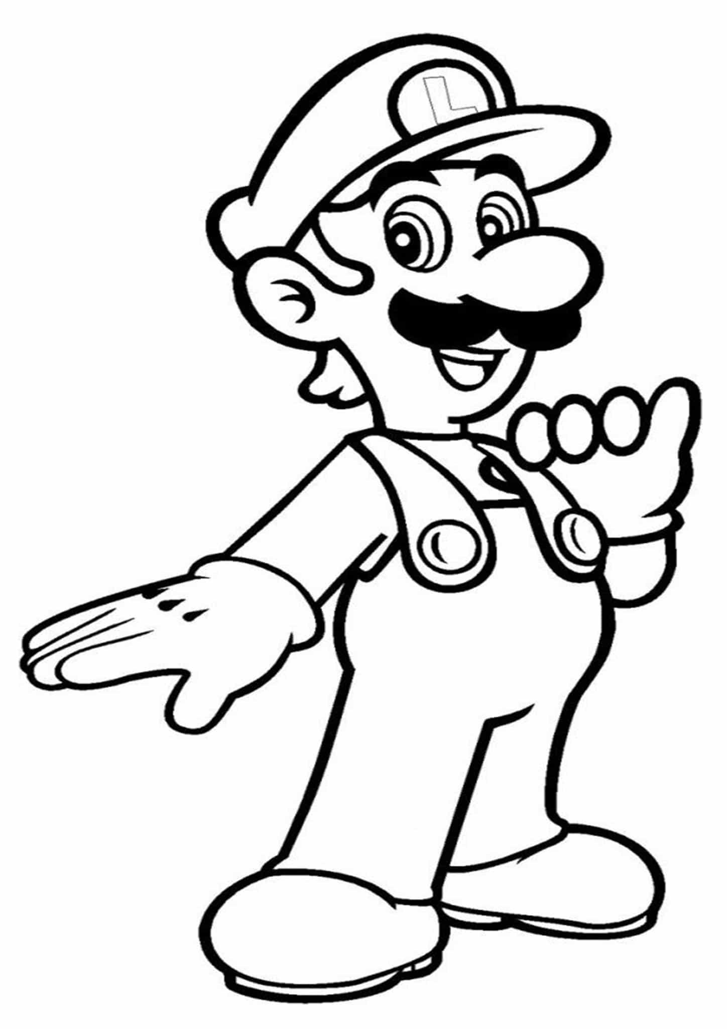 Free & Easy To Print Mario Coloring Page - Tulamama