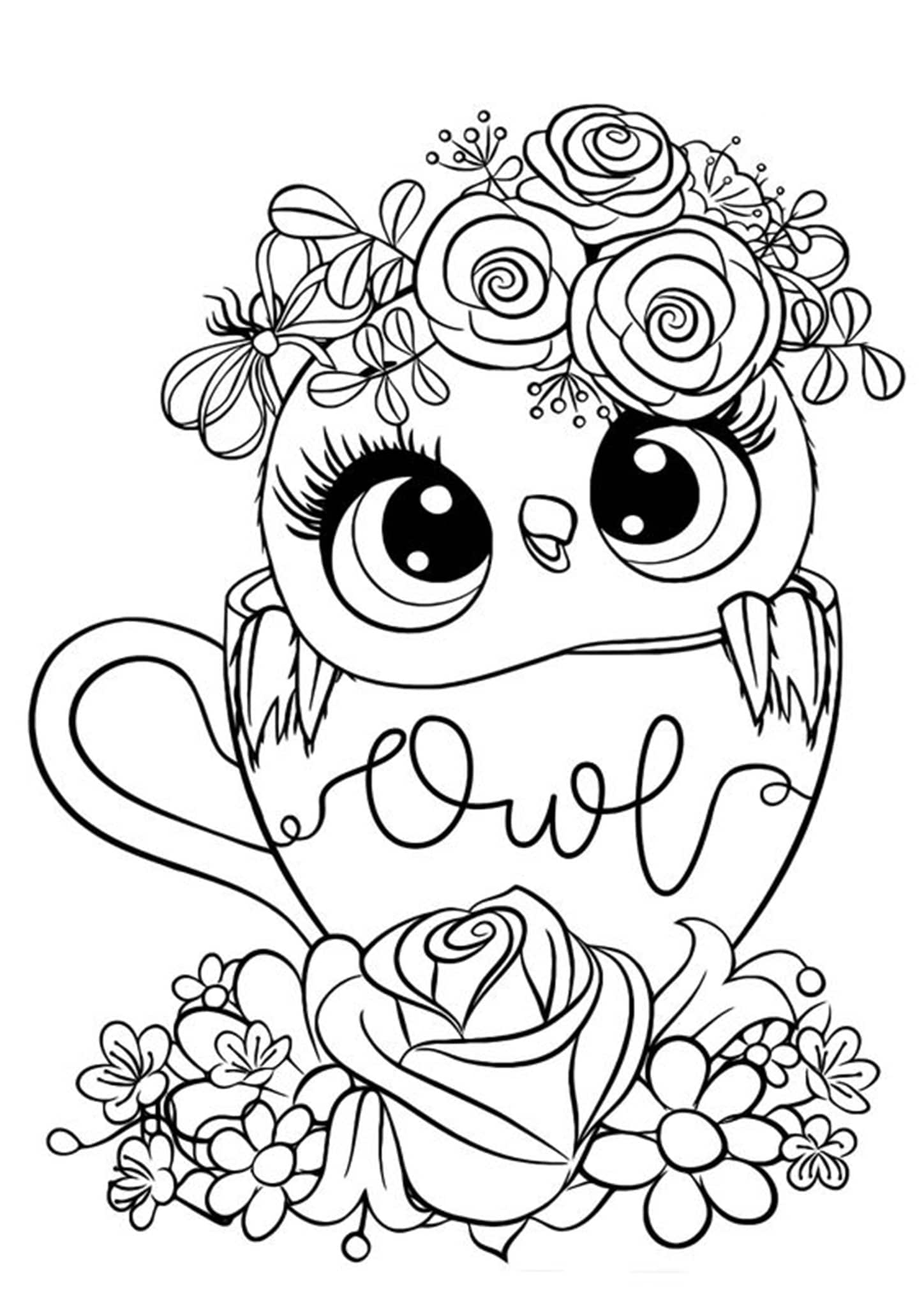 Free & Easy To Print Owl Coloring Pages - Tulamama