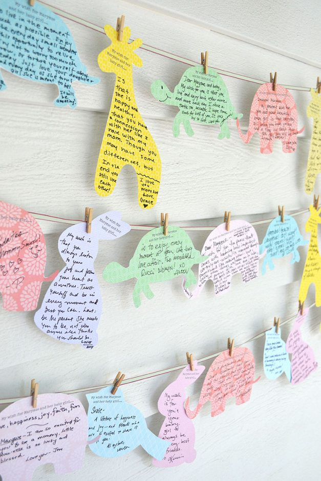 wishes for baby clothesline