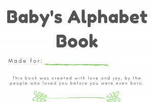 baby shower alphabet book