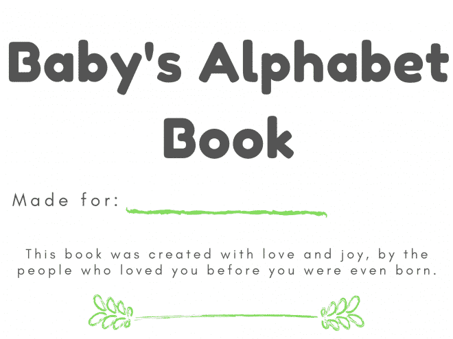 Free & Easy Downloadable ABC Book Template For Your Baby Shower Activities  - Tulamama