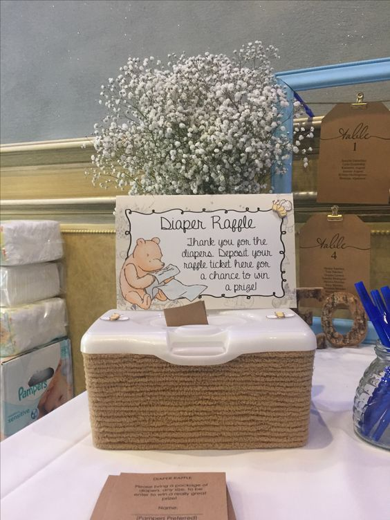 Diaper raffle ideas for a baby shower