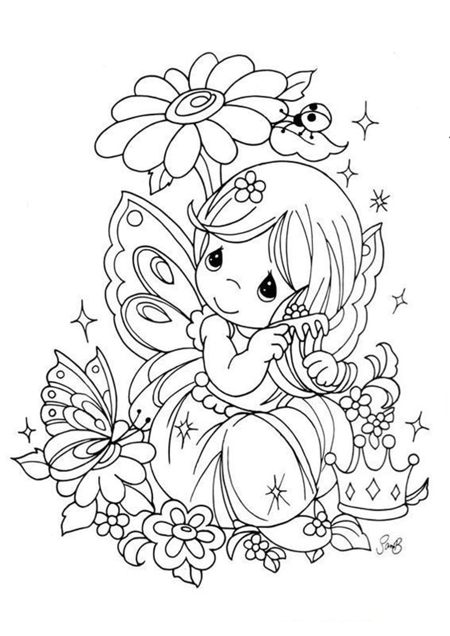 Free & Easy To Print Fairy Coloring Pages - Tulamama
