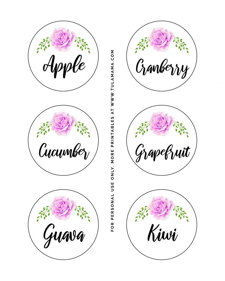 beautiful floral mimosa bar printables free