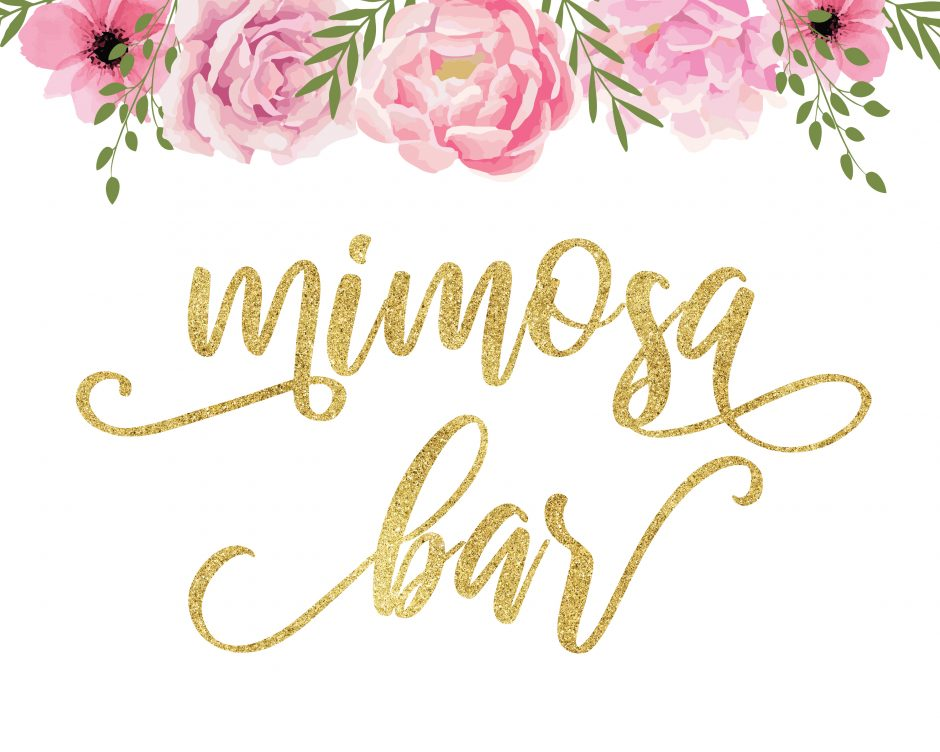 beautiful floral mimosa bar printables free