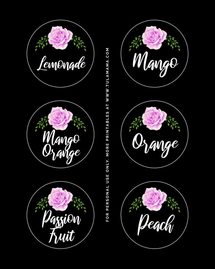 floral mimosa bar printables free