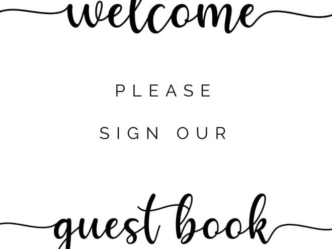 Please sign our guestbook neutral theme