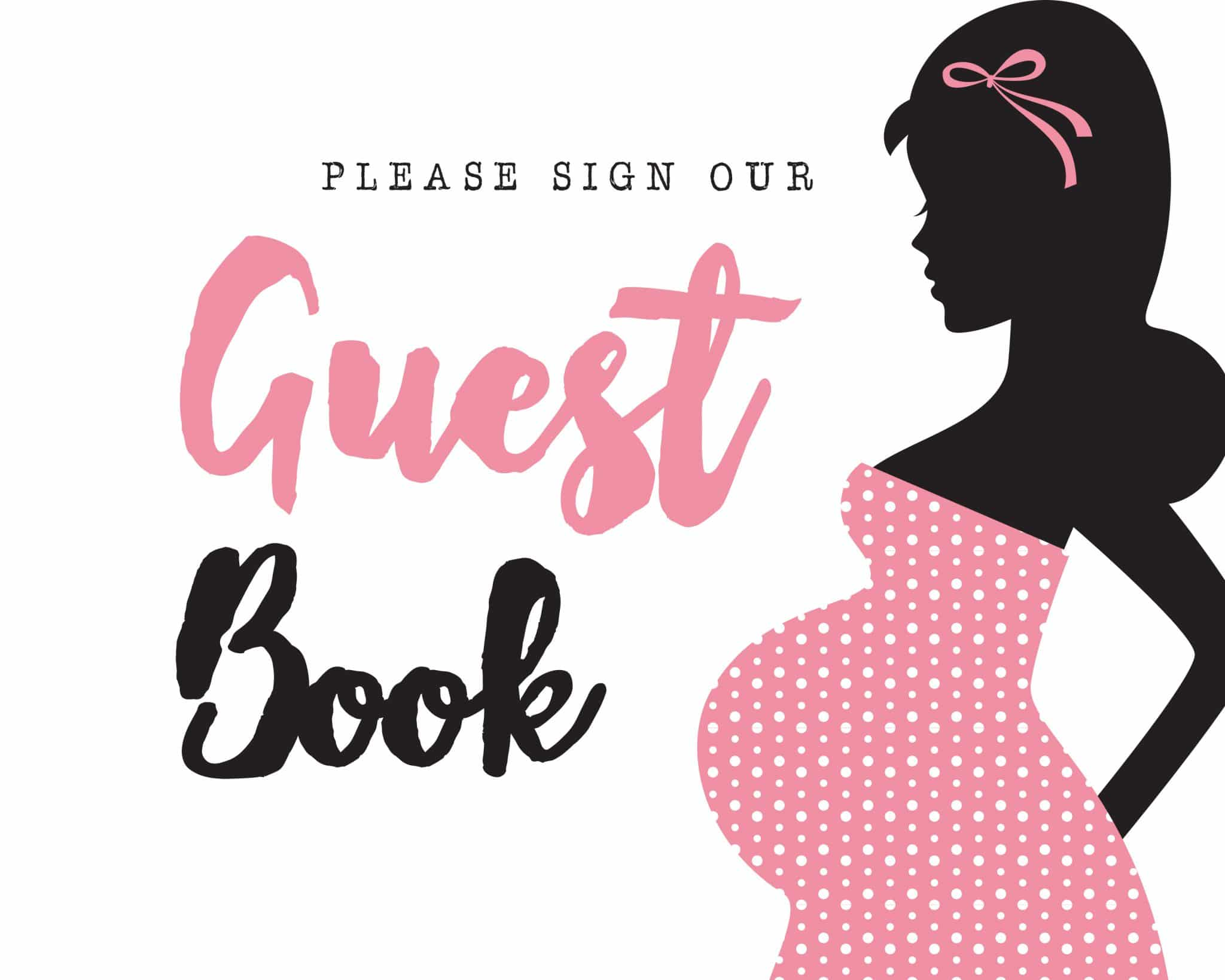 Please sign our guestbook it's a girl theme