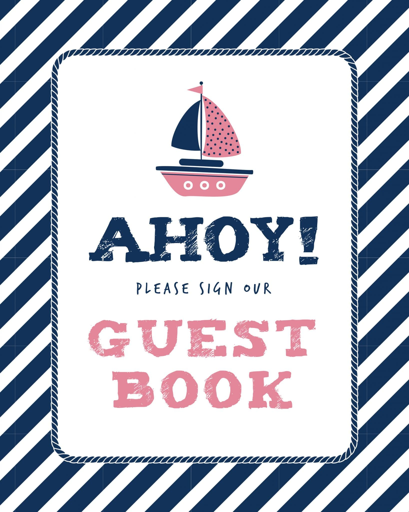 Please sign our guestbook nautical theme