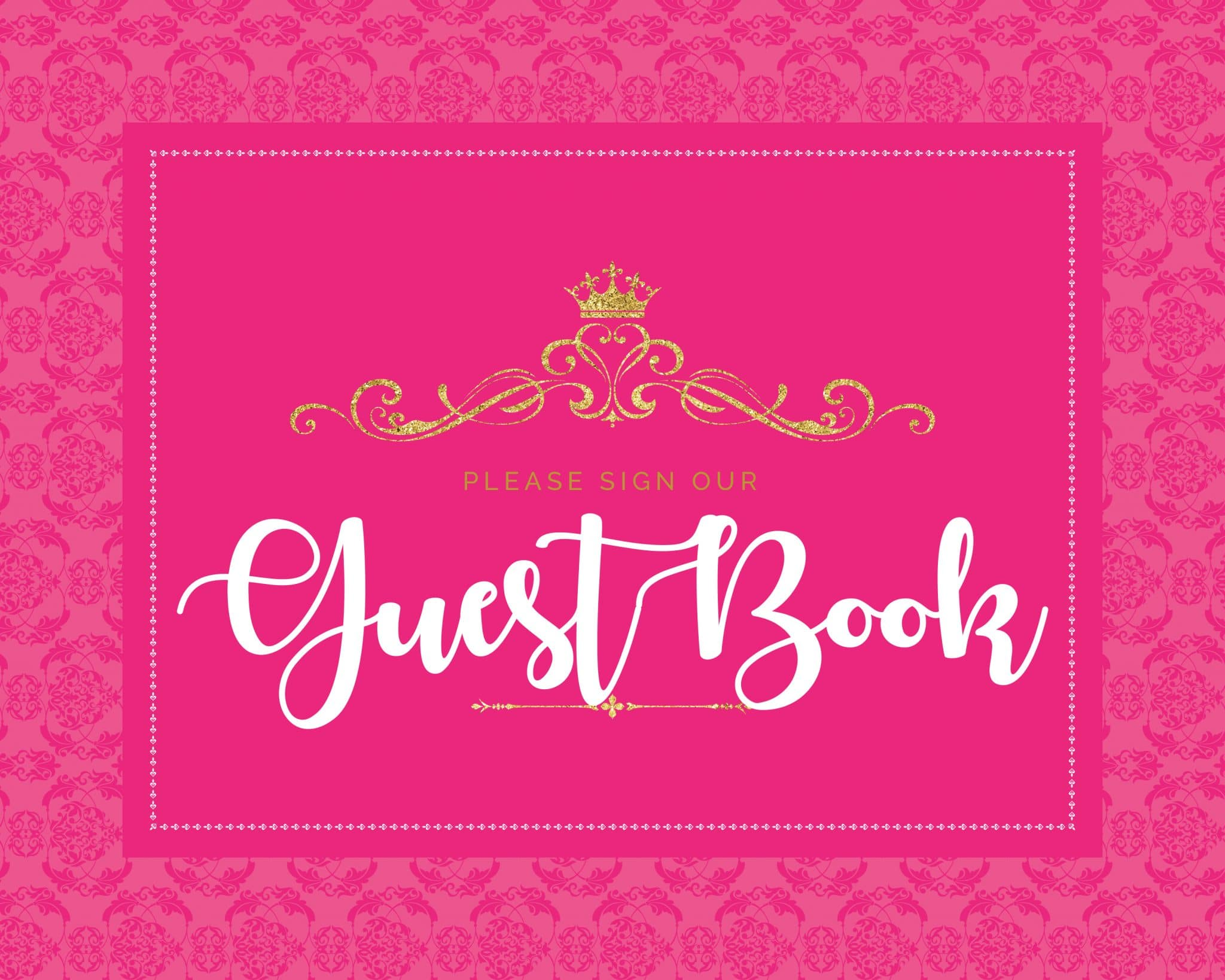 Please sign our guestbook princess theme