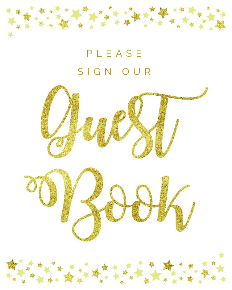 Please sign our guestbook twinkle twinkle little star theme