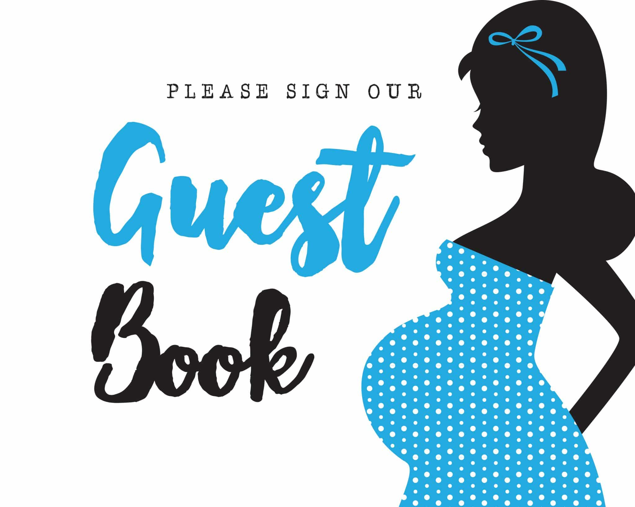 Please sign our guestbook its a boy theme