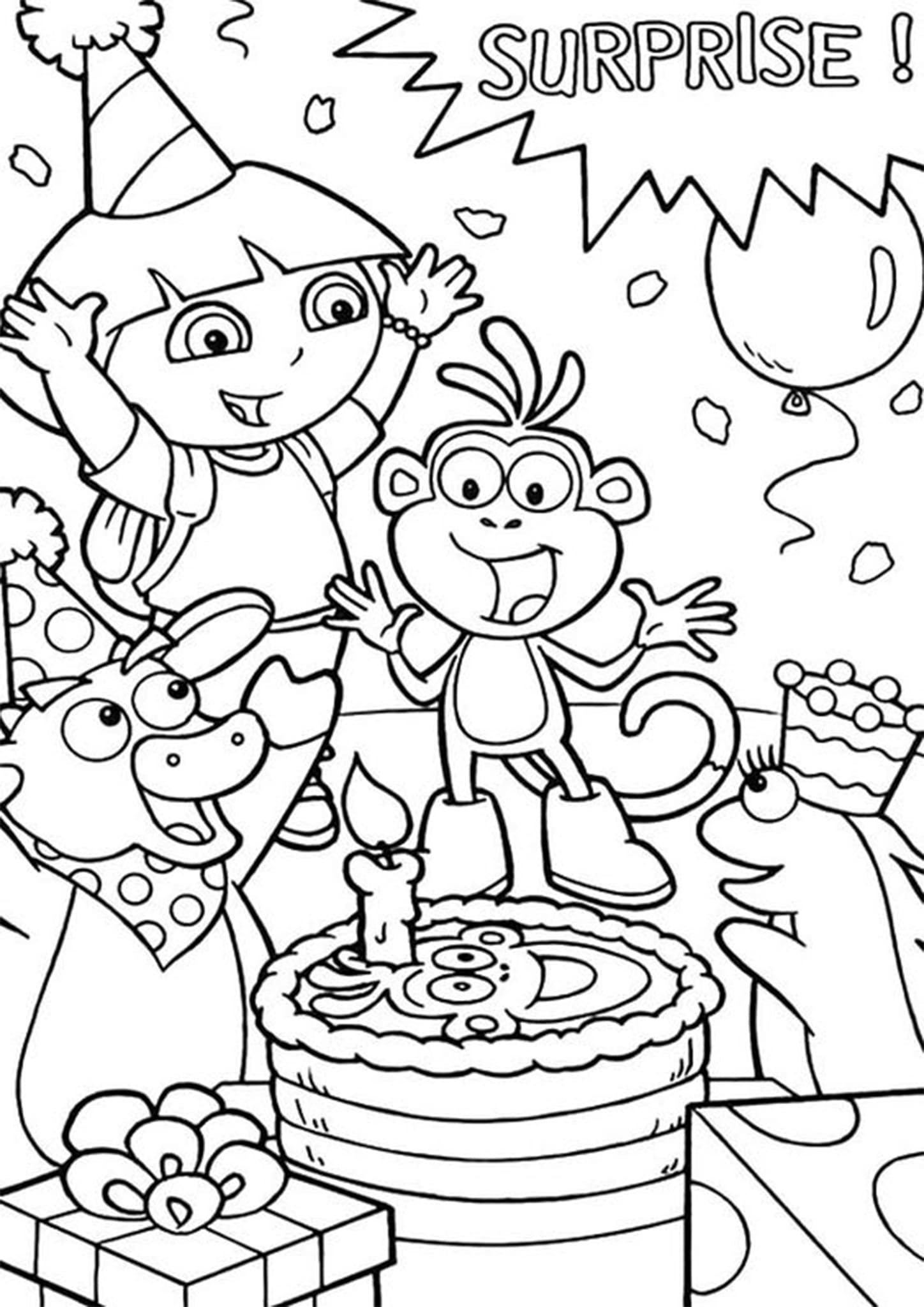 Free Amp Easy To Print Happy Birthday Coloring Pages Tulamama