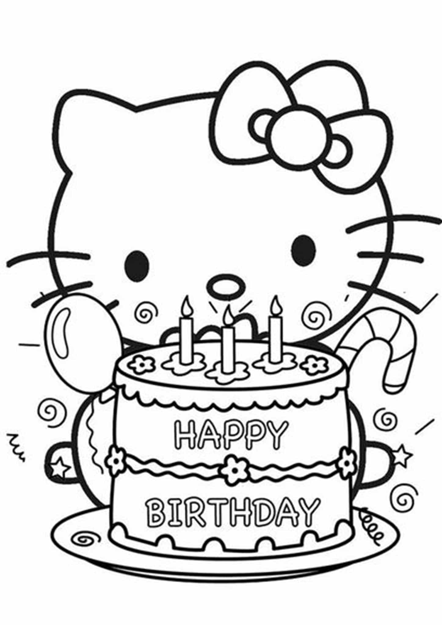 free easy to print happy birthday coloring pages tulamama