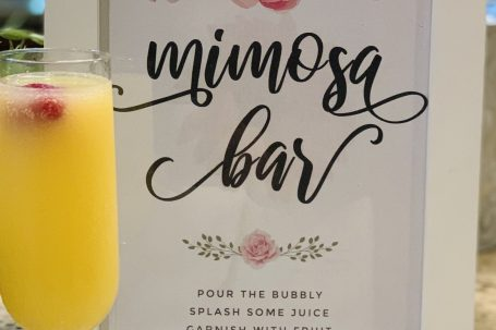 Mimosa bar labels sign printables free