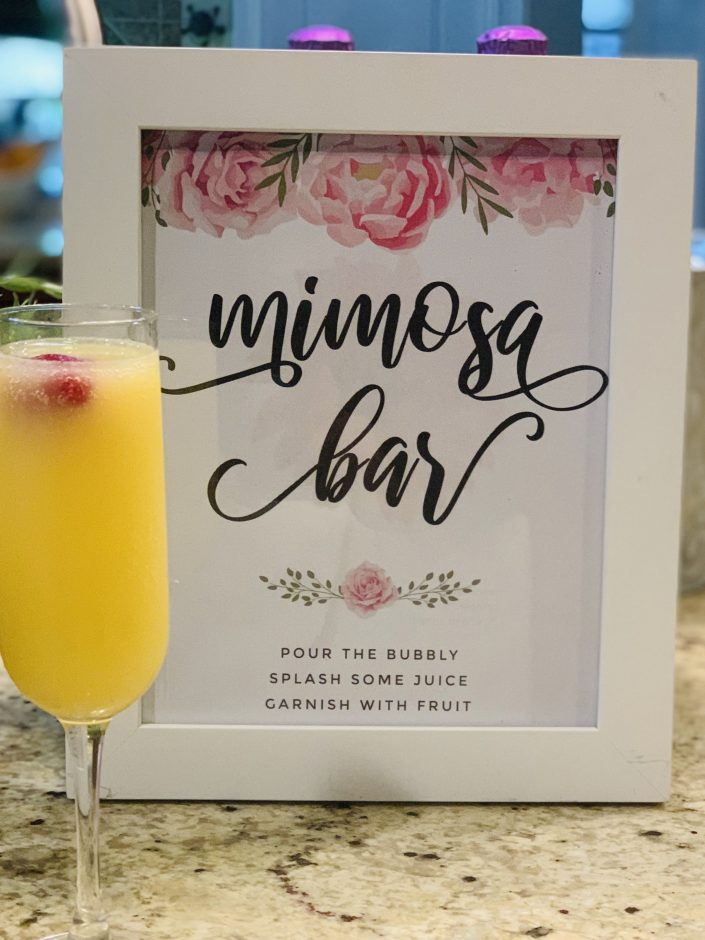Mimosa bar labels sign printables free