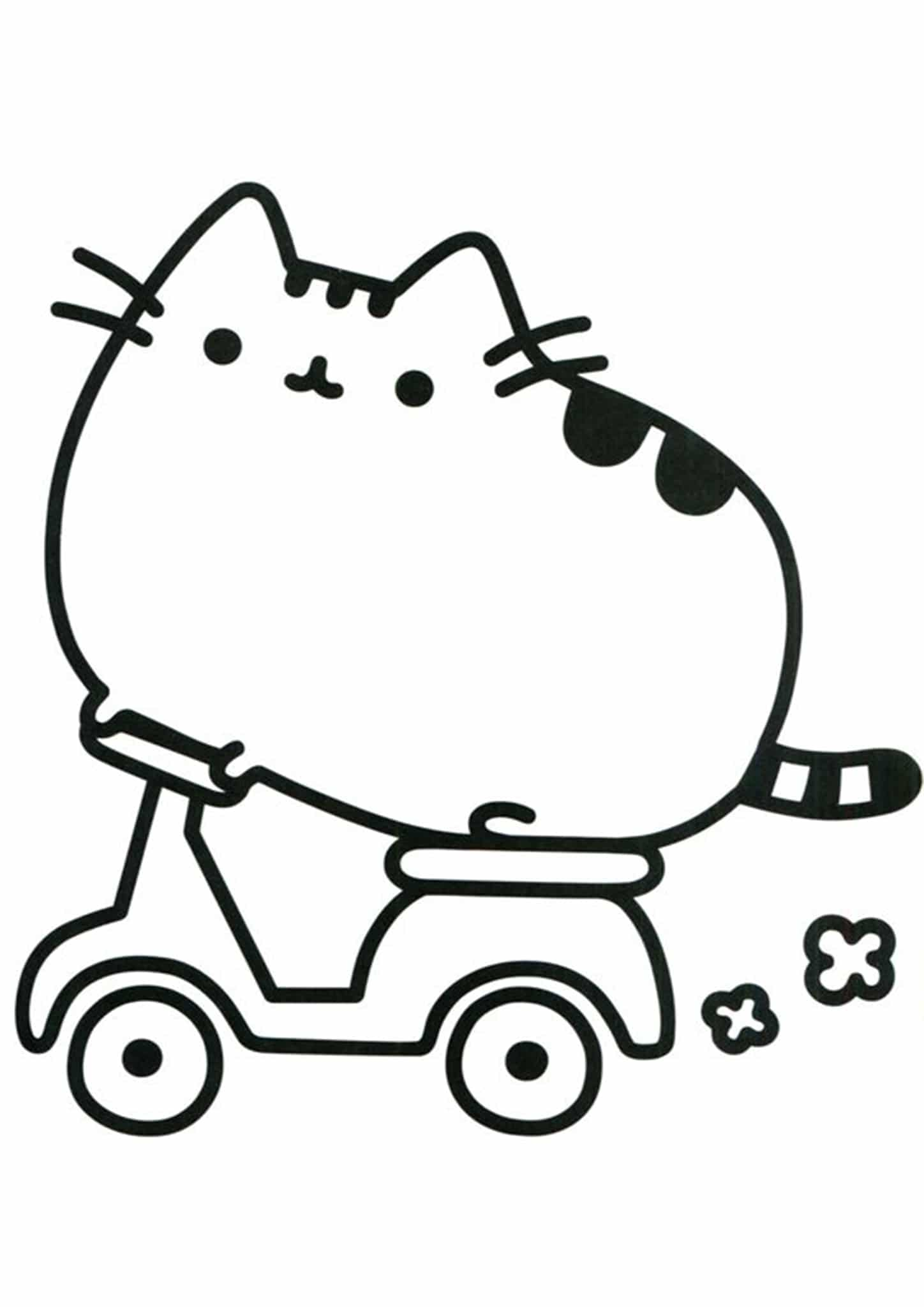 Free & Easy To Print Pusheen Coloring Pages - Tulamama