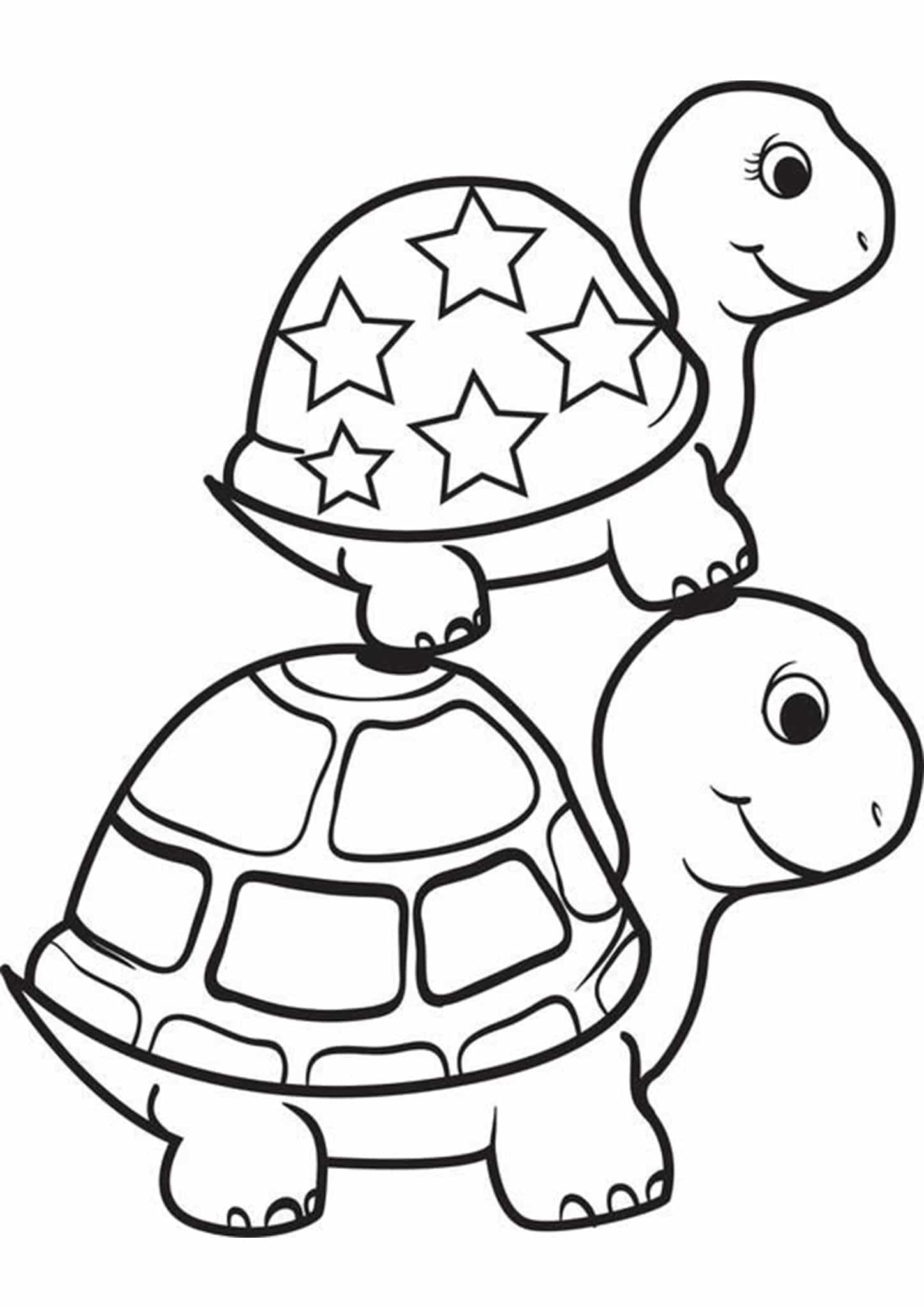 Free & Easy To Print Turtle Coloring Pages - Tulamama