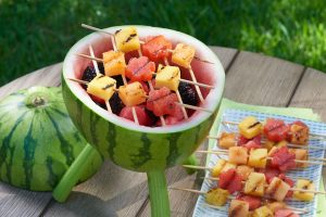 watermelon grill for a baby shower barbecue