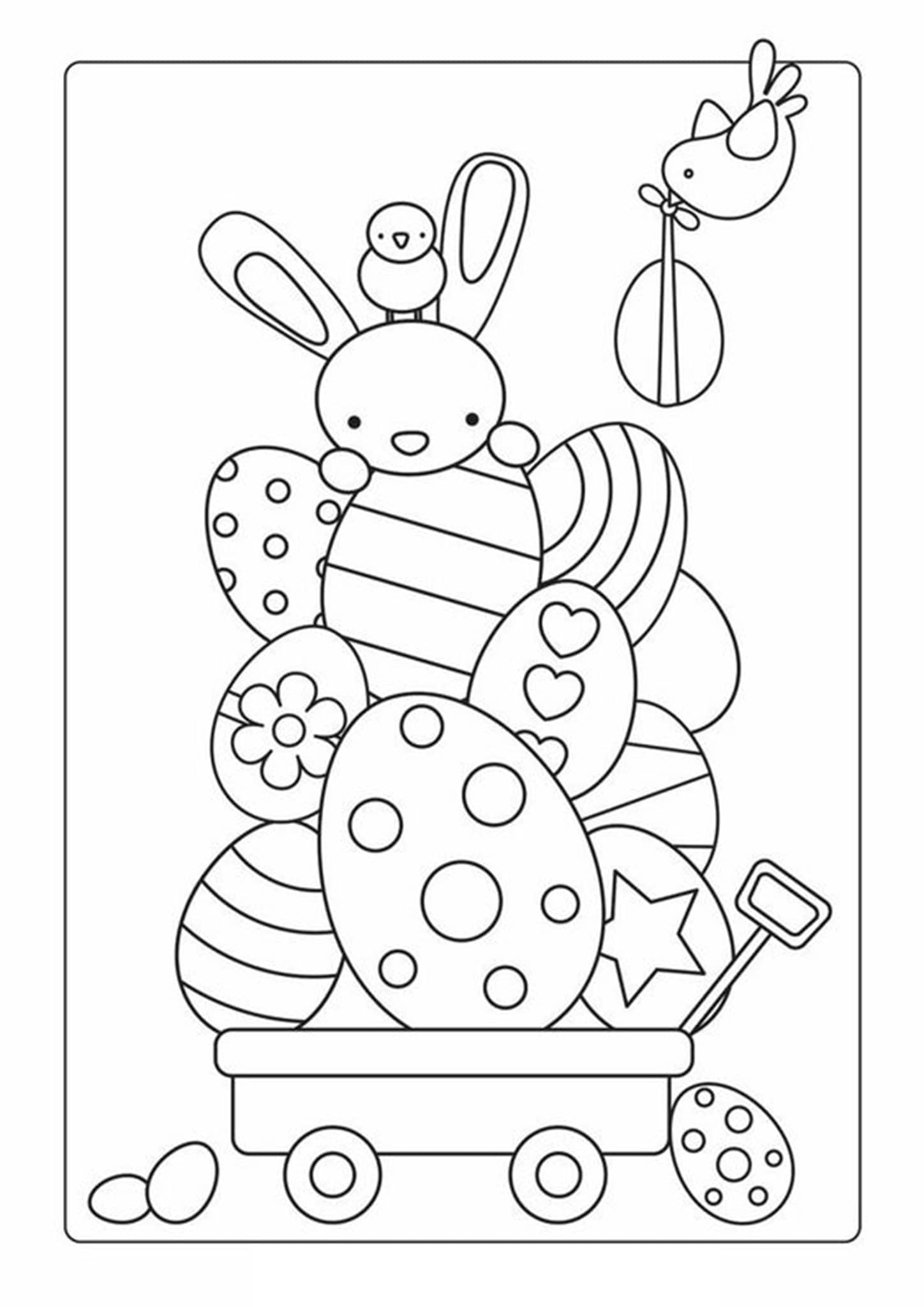 Free & Easy To Print Bunny Coloring Pages - Tulamama