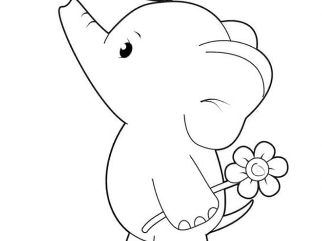 Baby Elephant Coloring Pages Animal #13 Elephant Coloring Pages ... | 495x660