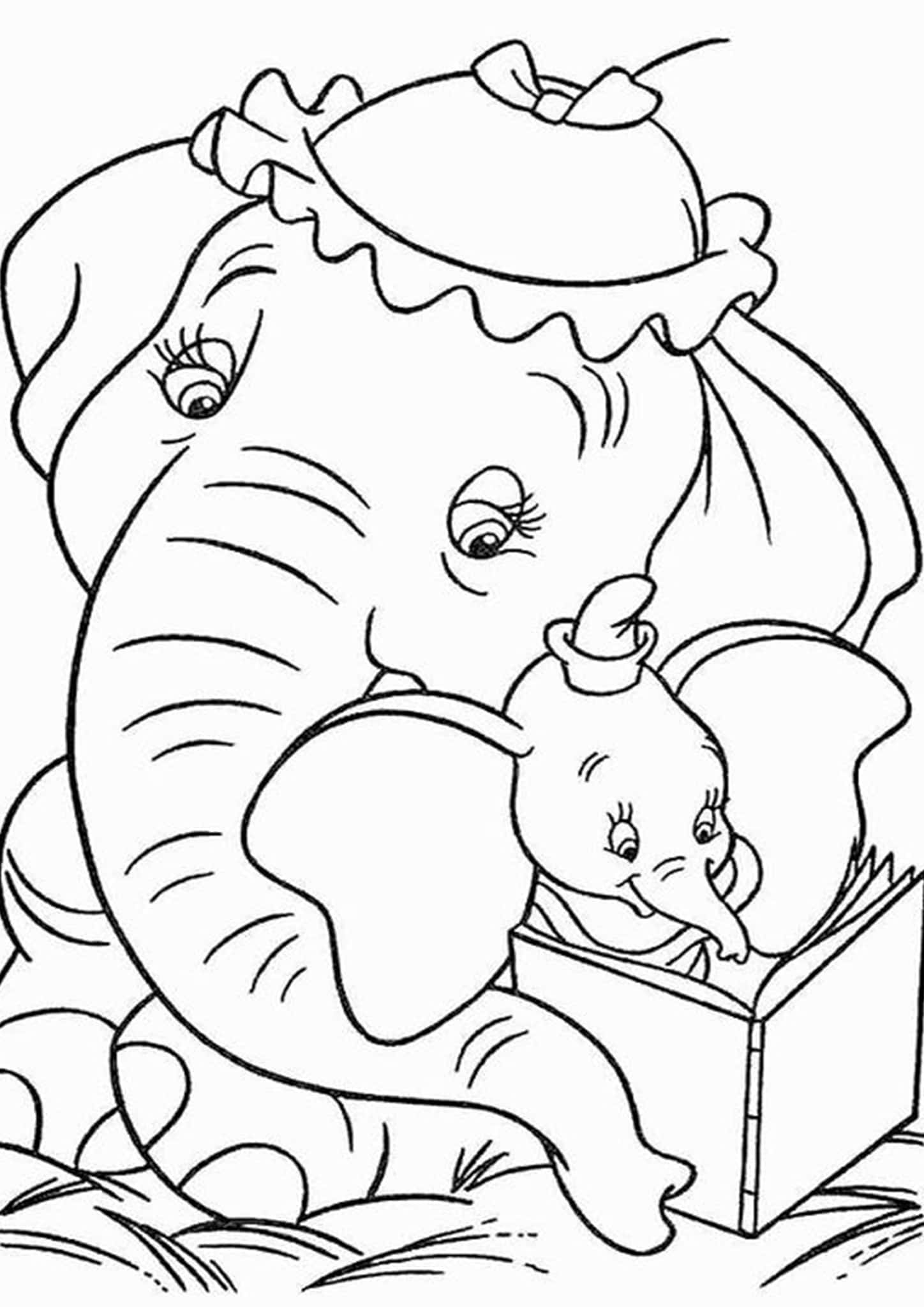 Free & Easy To Print Elephant Coloring Pages - Tulamama