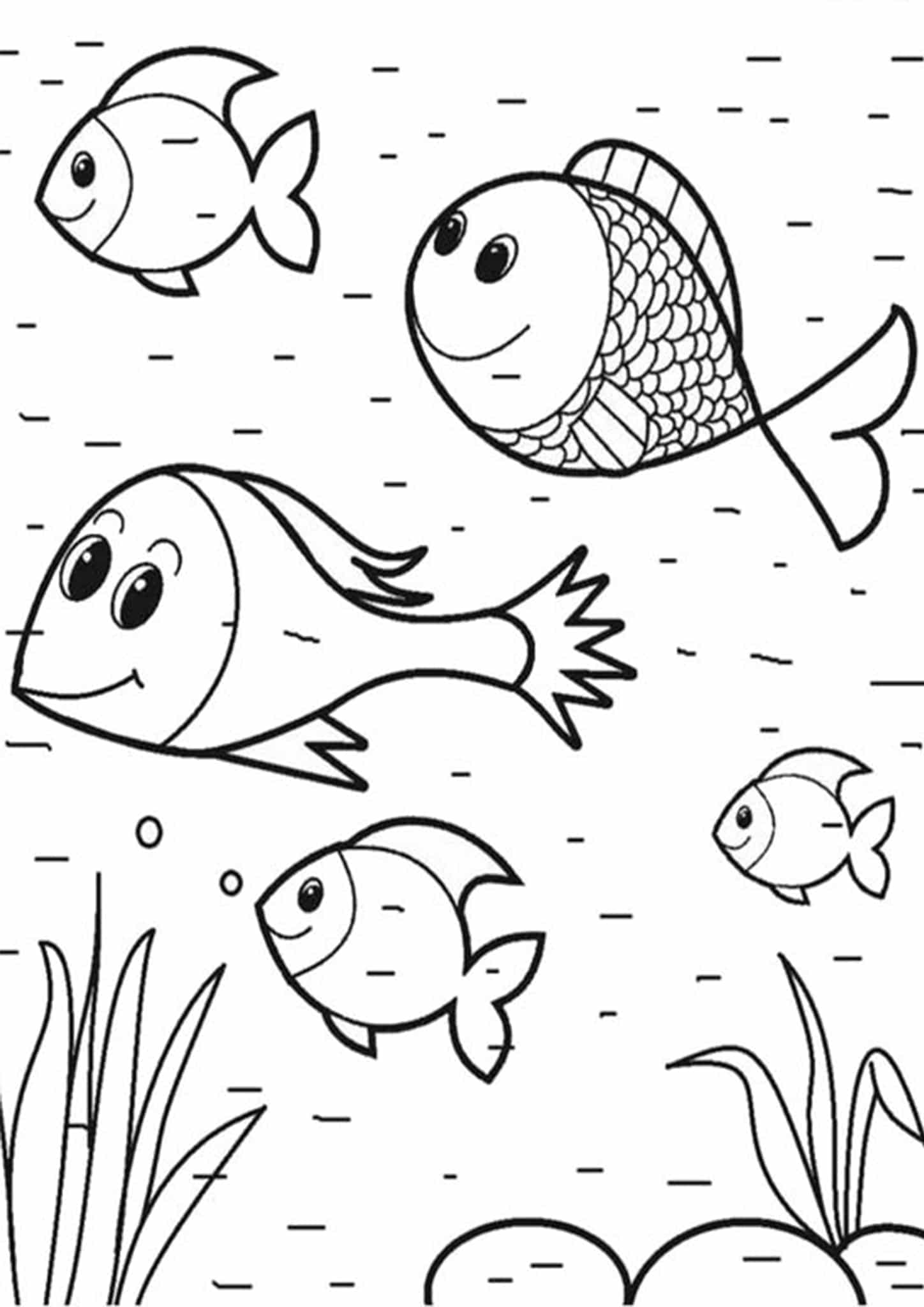 Free & Easy To Print Fish Coloring Pages - Tulamama