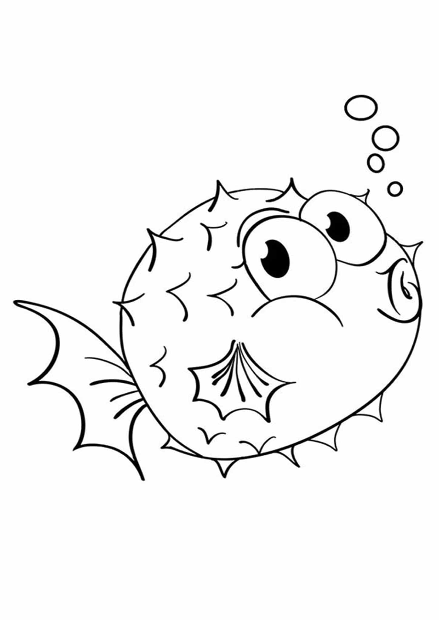 Free Cute Fish Coloring Pages, Download Free Clip Art, Free Clip ... | 2048x1448