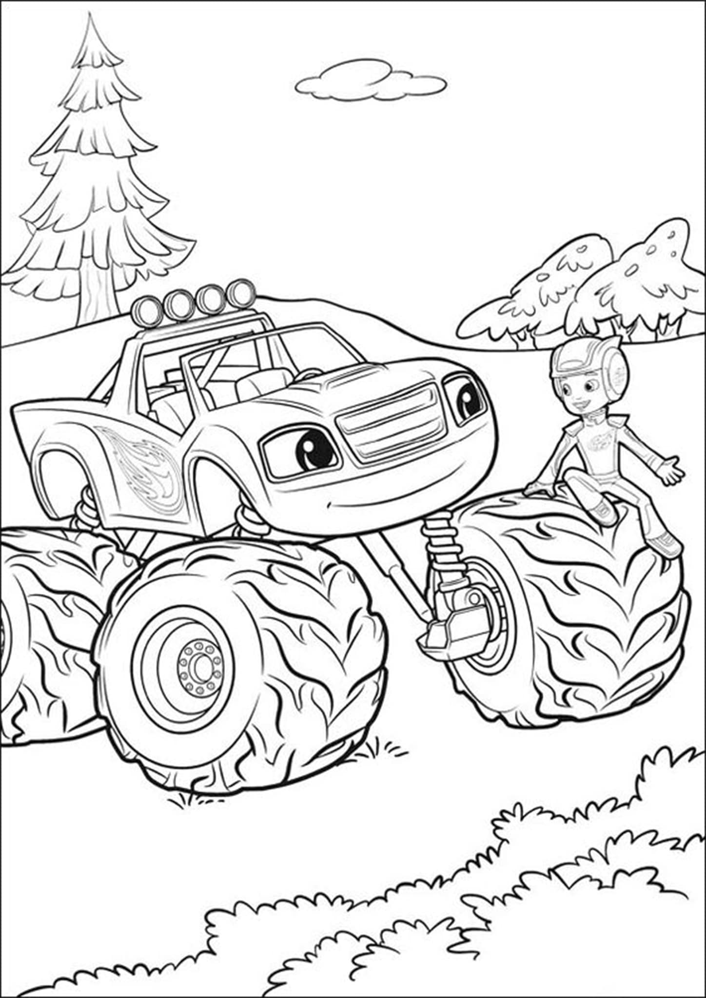 Free & Easy To Print Monster Truck Coloring Pages - Tulamama