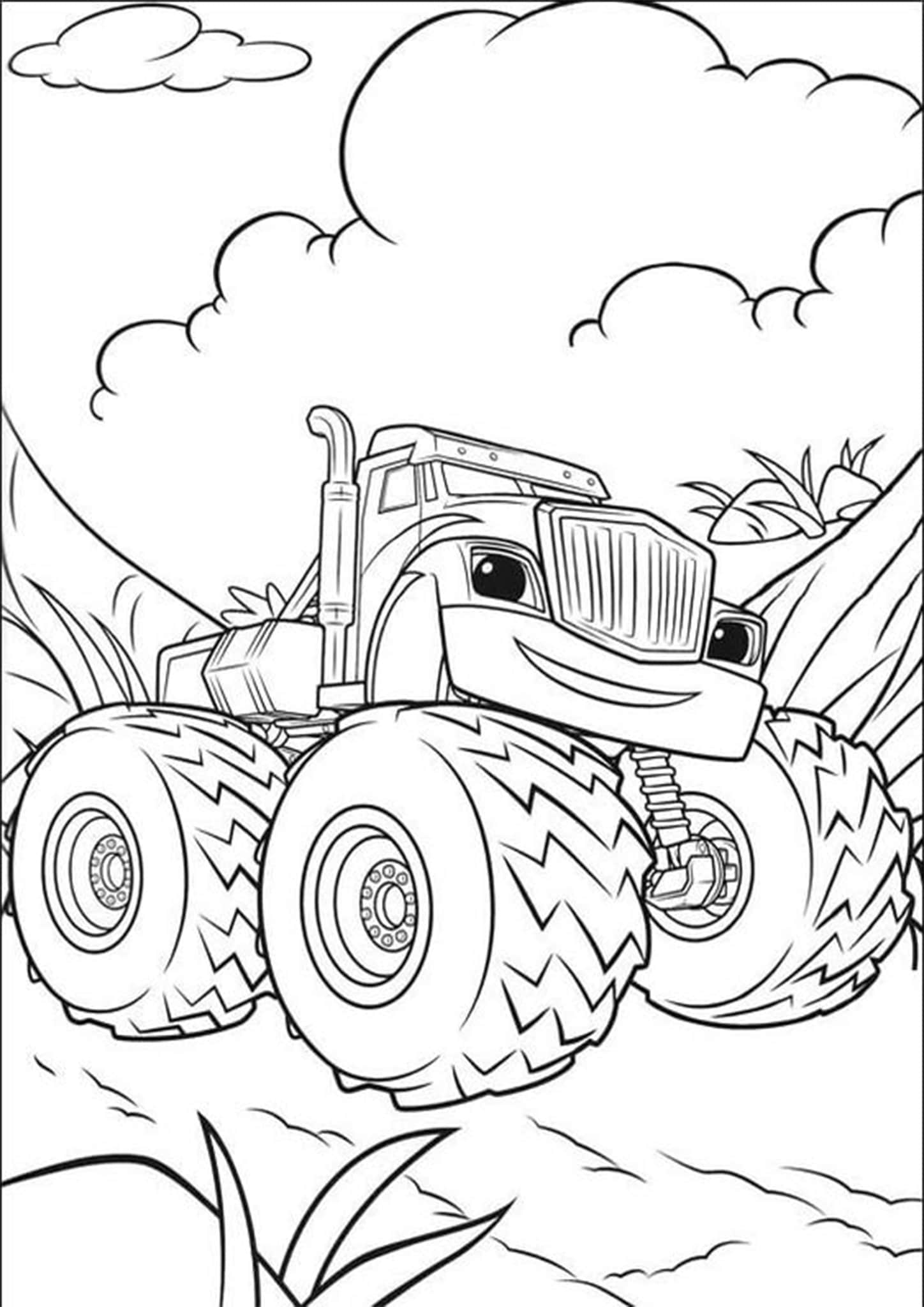 Free Easy To Print Monster Truck Coloring Pages Tulamama