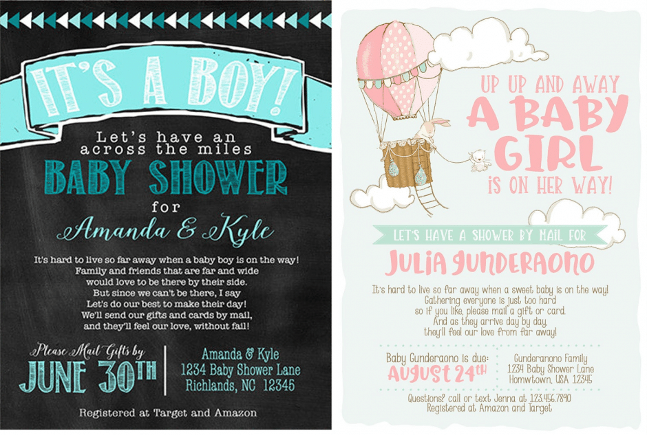 virtual baby shower invitations