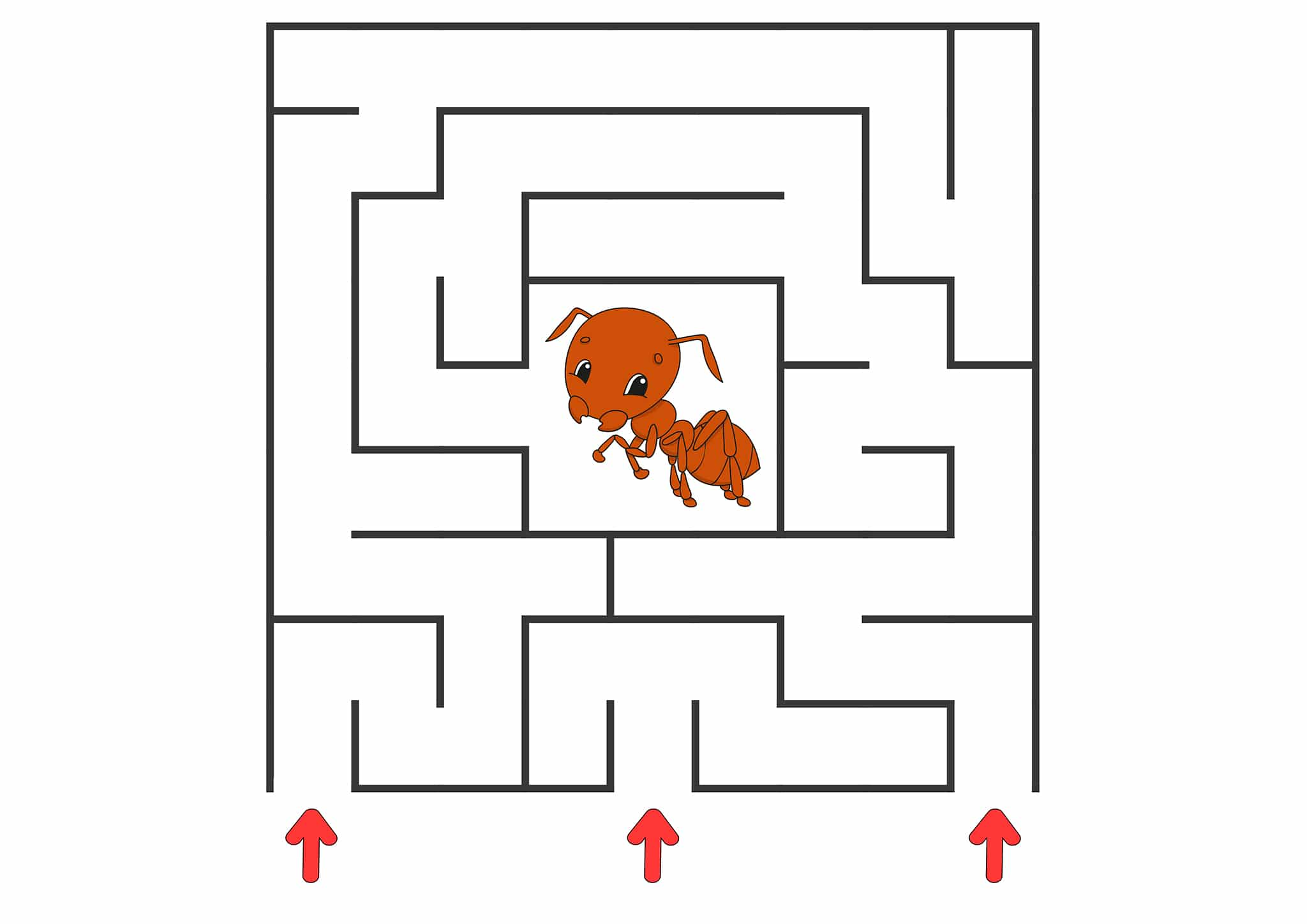 simple maze free printables