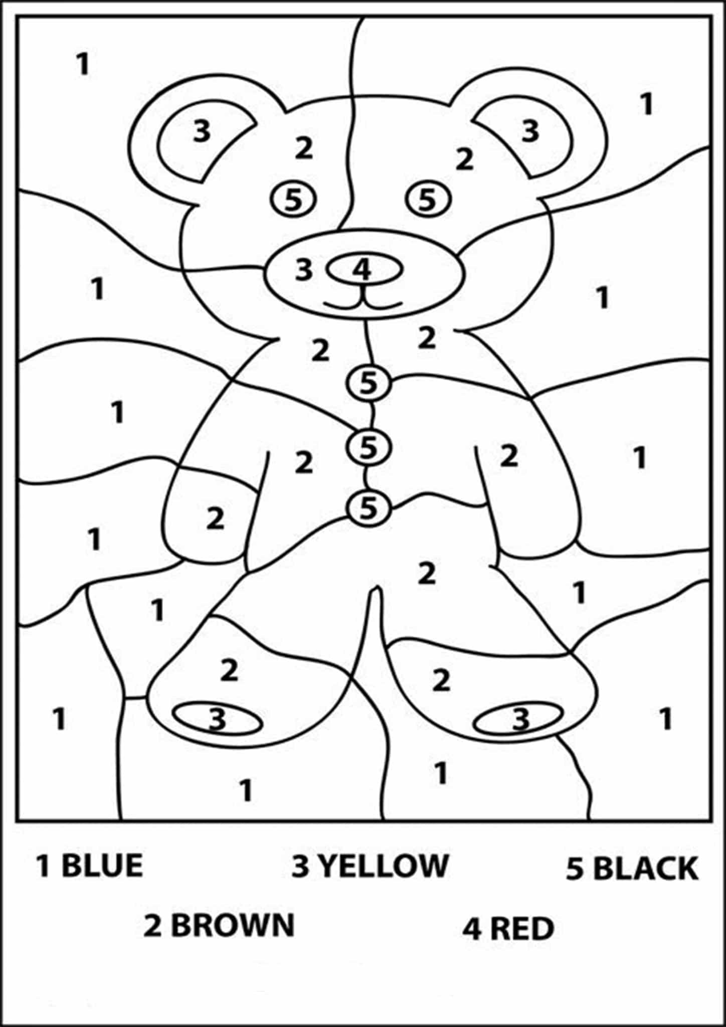 Free Printable Color by Number Worksheets For Kindergarten ...