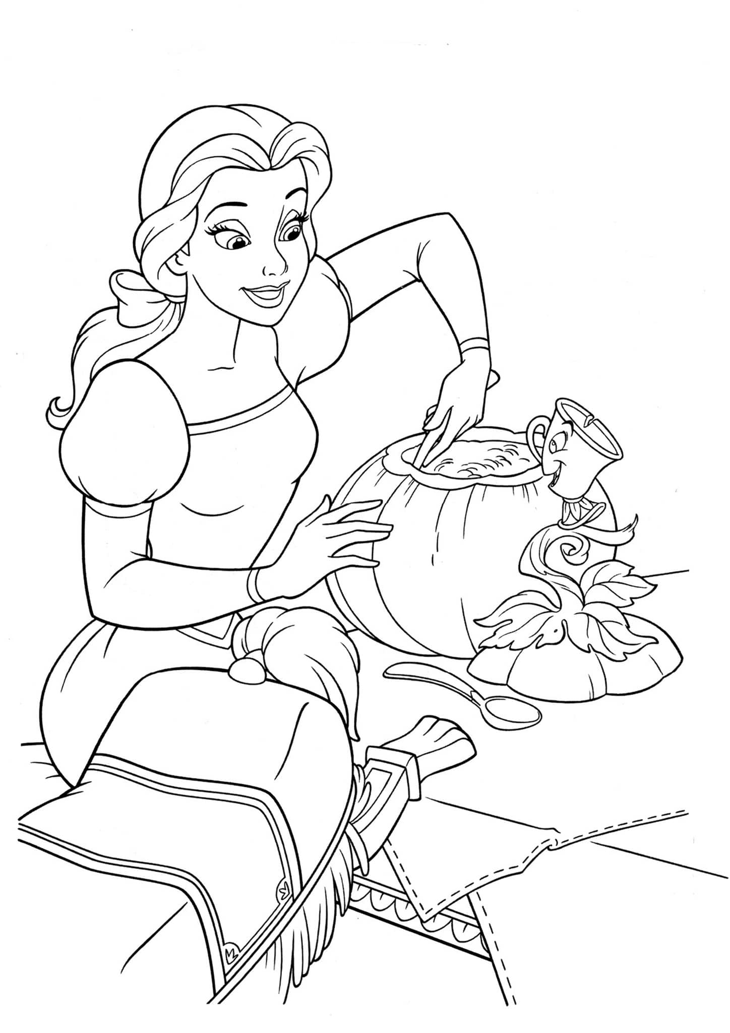 Sleeping Beauty Coloring Pages | Disneyclips.com | 2048x1448