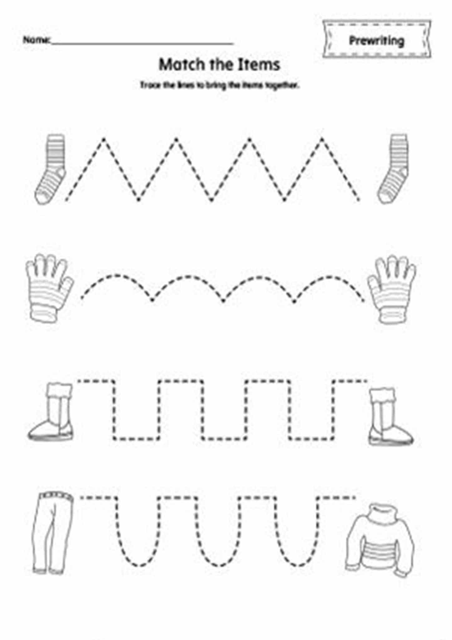 tracing lines free printables