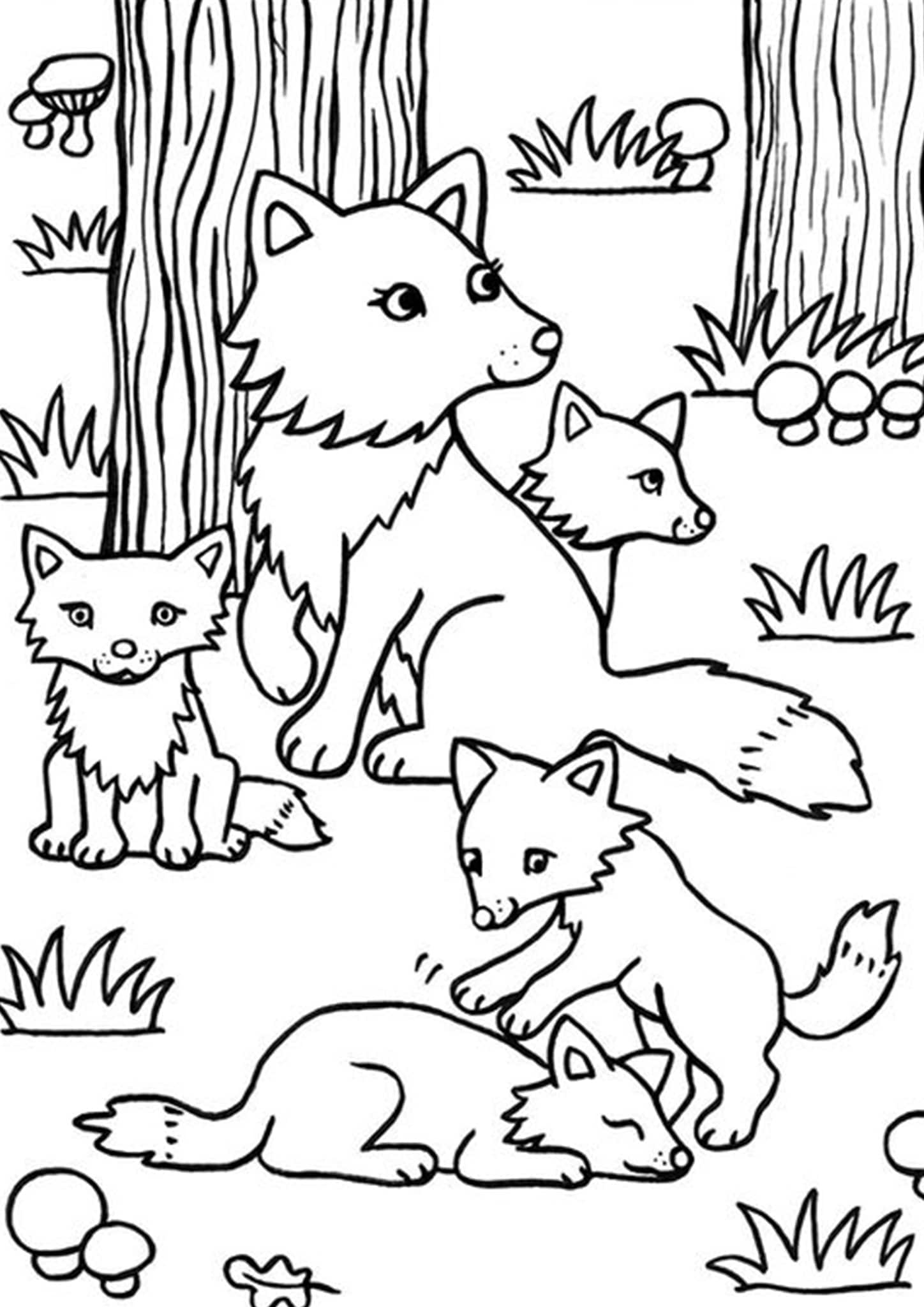 Free & Easy To Print Fox Coloring Pages - Tulamama