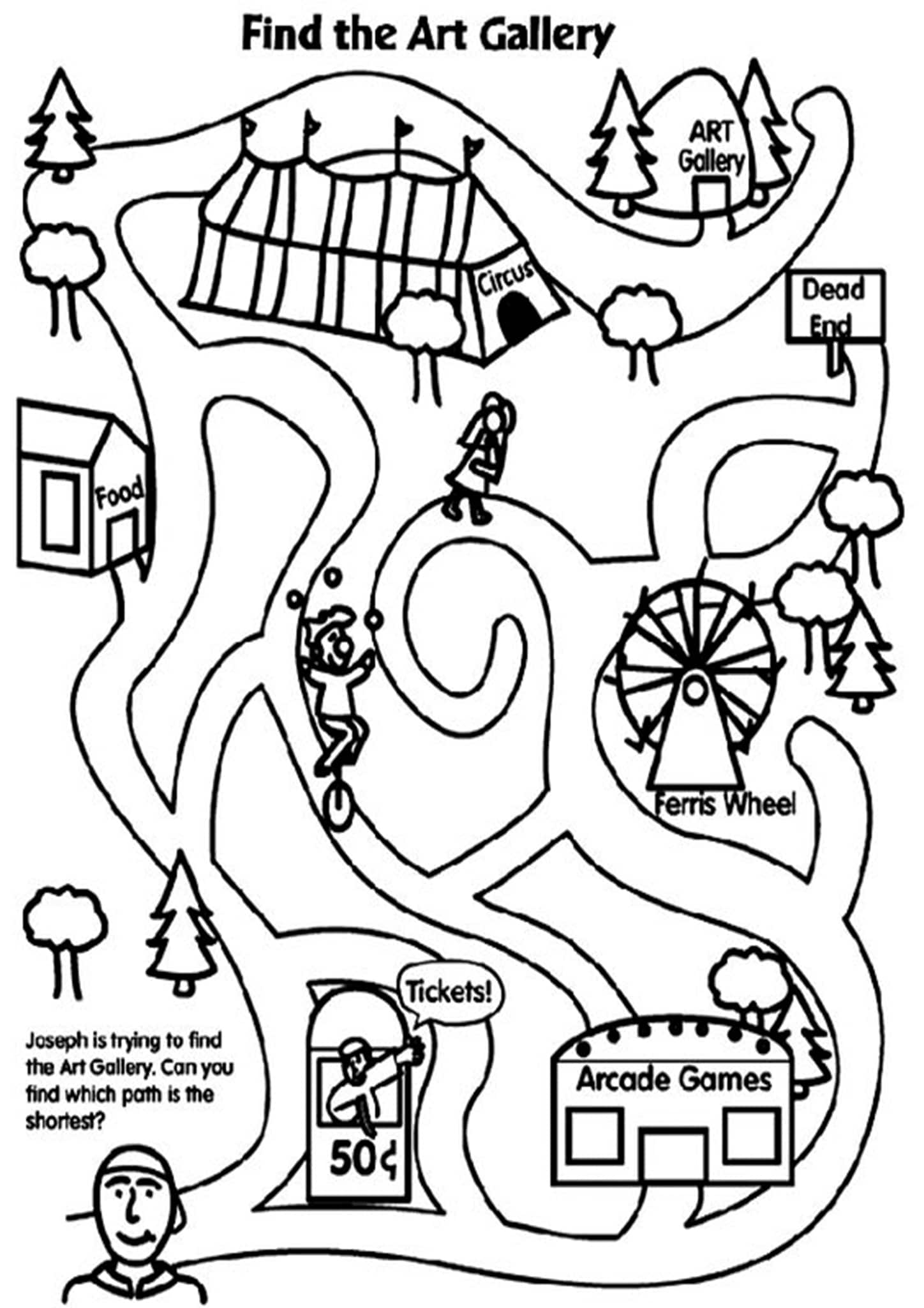 Free Simple Maze Printables For Preschoolers And ...