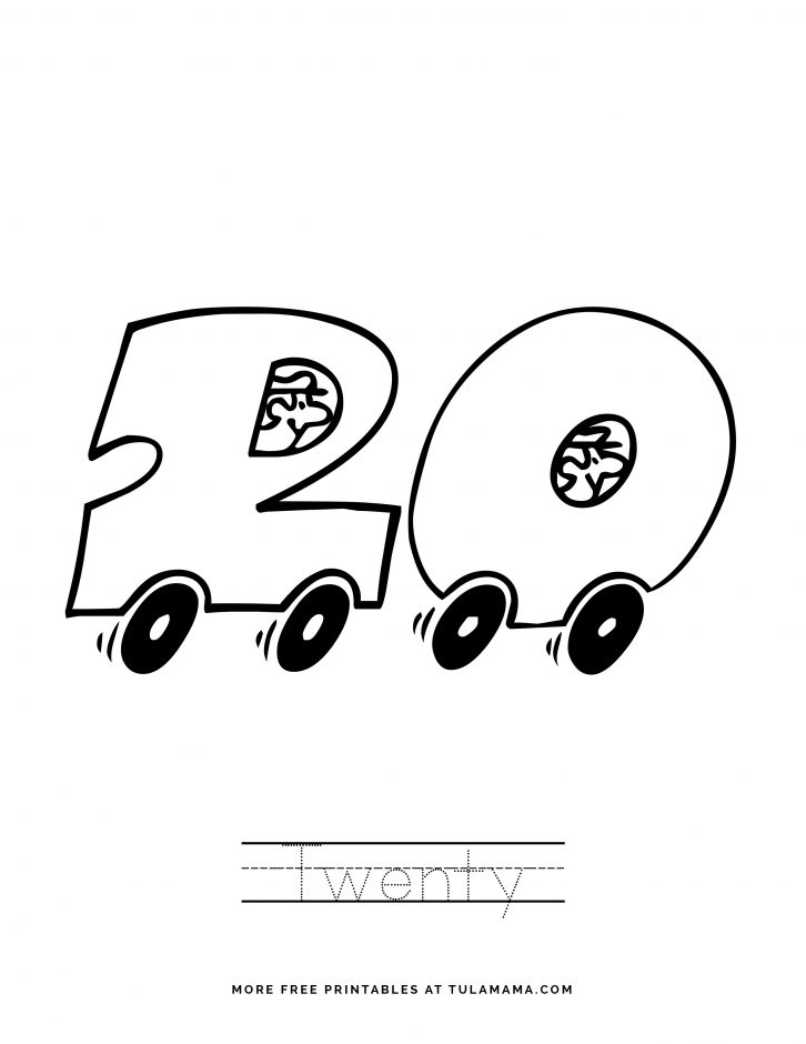 Number 20 Coloring Pages