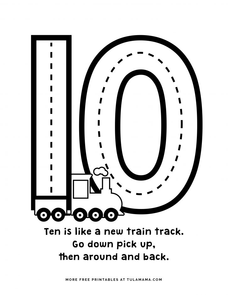 number 10 coloring pages