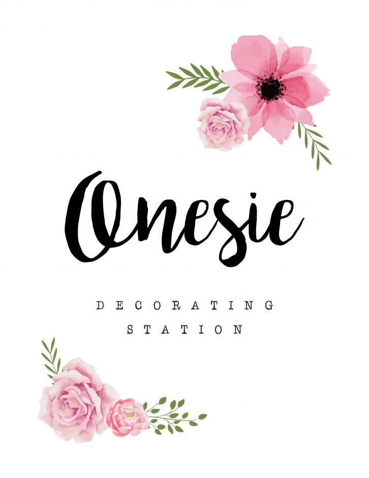 decorate a onesie sign onesie decorating station sign