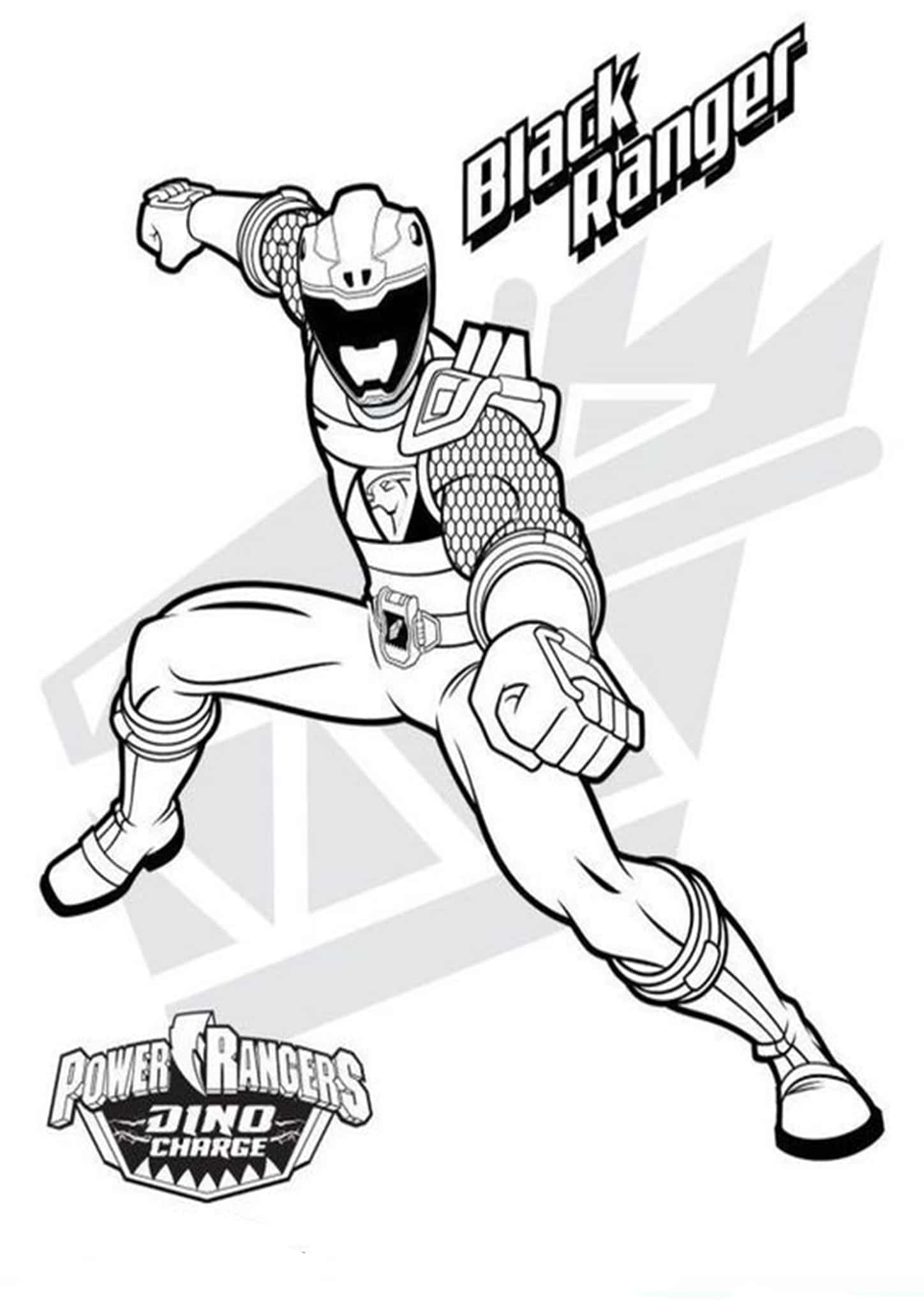 Free & Easy To Print Power Rangers Coloring Pages - Tulamama