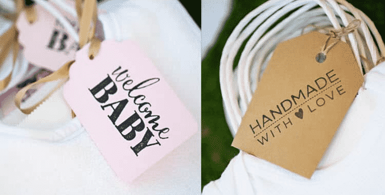 baby shower onesie decorating tags