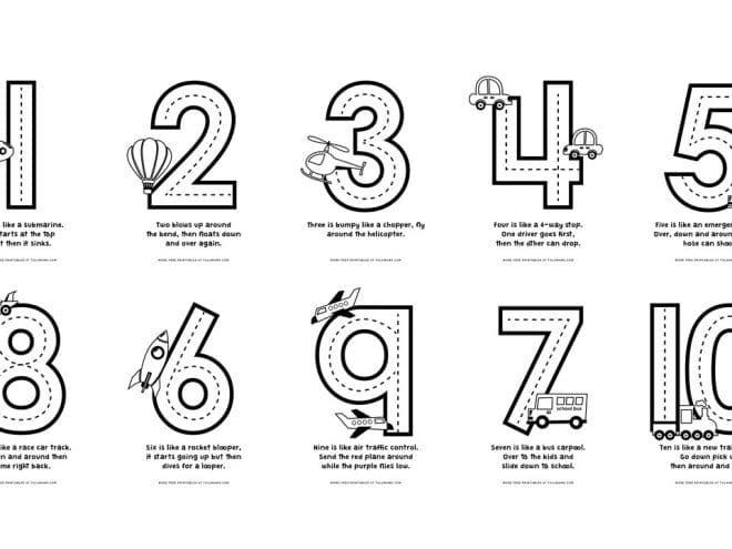 Free & Cute Number Coloring Pages For Fun Learning - Tulamama