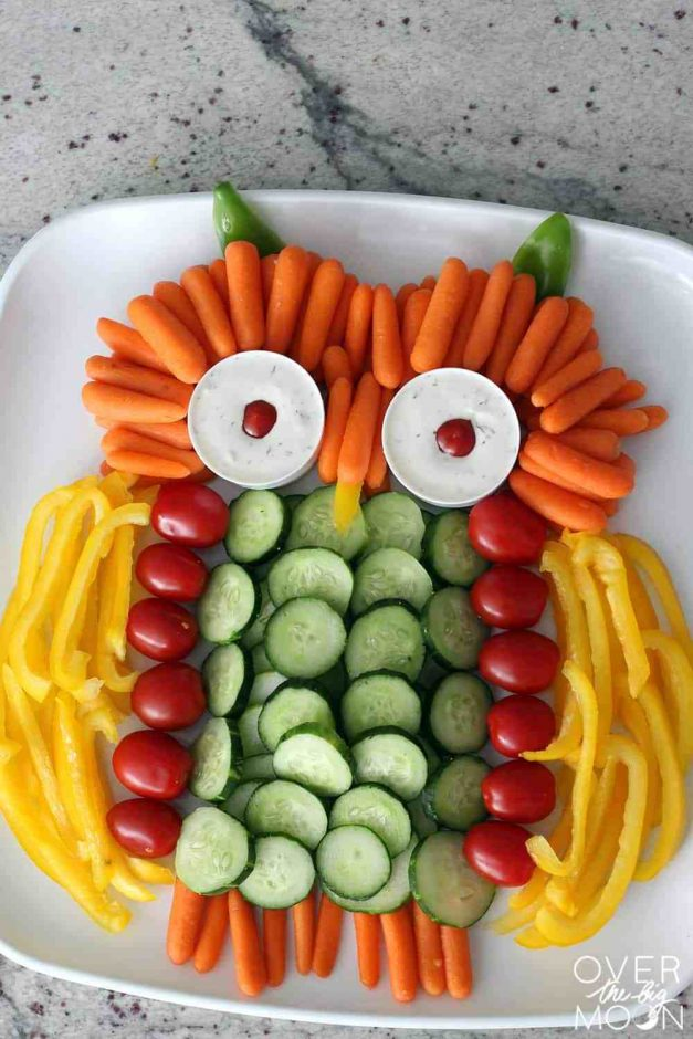 owl veggie tray baby shower appetizers