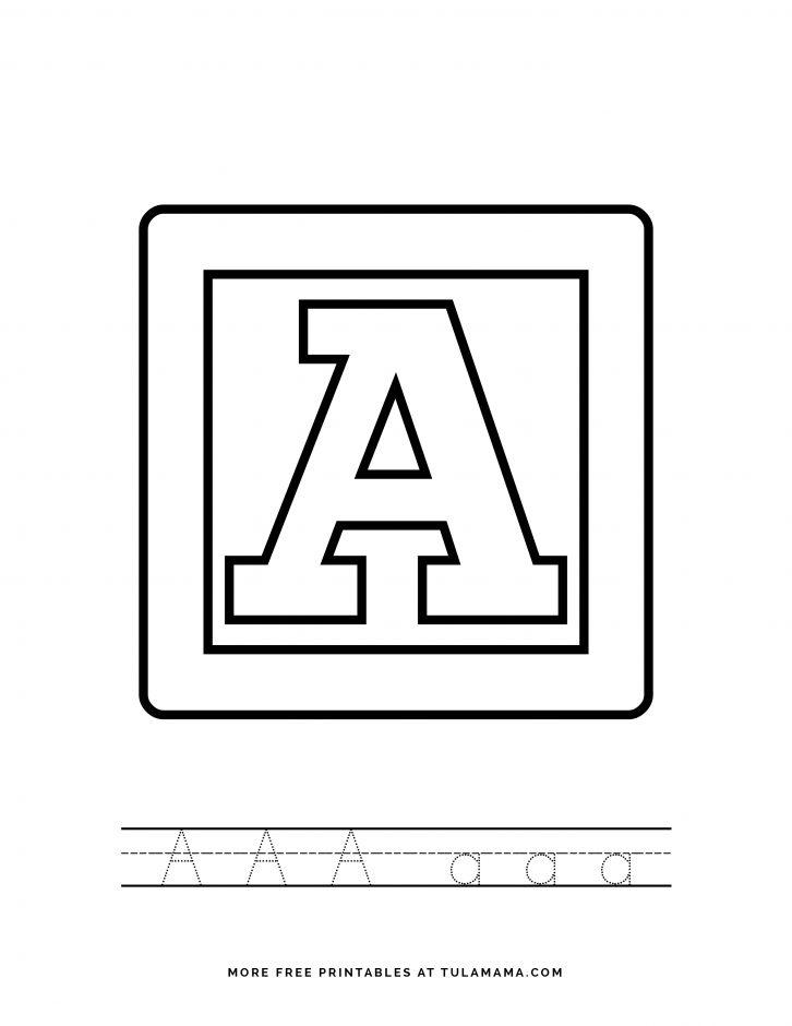 Free Printable Alphabet Blocks Tracing Worksheets For Preschoolers -  Tulamama